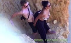 Turistas pegos no flagra transando na praia